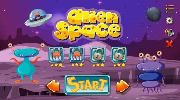 Modello di gioco spaziale mostro