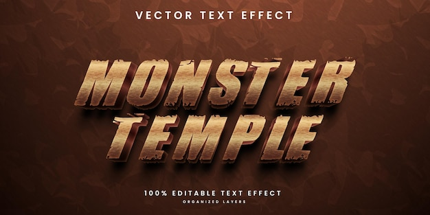 Effetto di testo modificabile del tempio del mostro