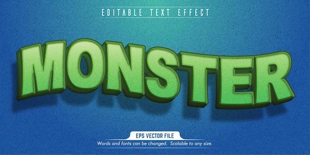 Testo del mostro, effetto di testo modificabile in stile cartone animato