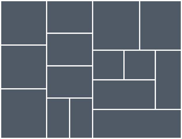 Modello di cornice per foto collage di montaggio. disegno del manifesto del montaggio del fondo dell'immagine dell'immagine.