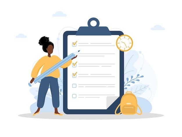 Pianificazione del mese o per fare il concetto di elenco
