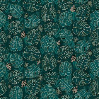 Moody design tropicale senza cuciture