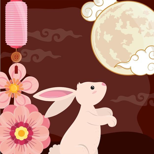 Lanterne luna e coniglio