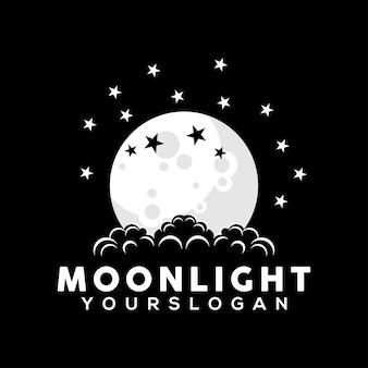 Illustrazione del modello di progettazione del logo della luna