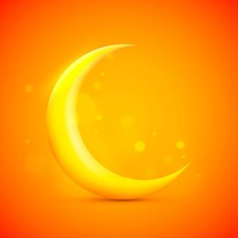 Icona del segno di luna sullo sfondo arancione. illustrazione vettoriale