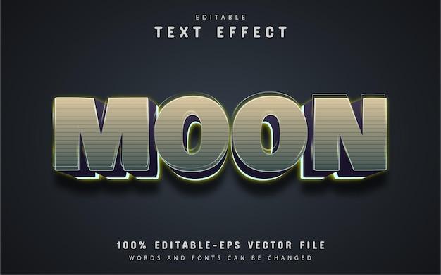 Testo lunare, effetto testo modificabile