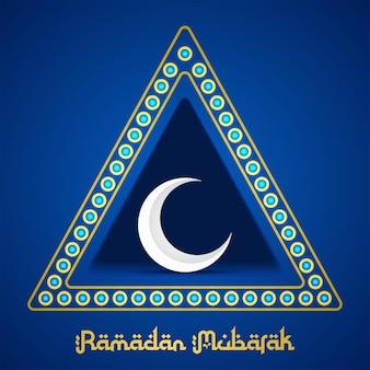 Luna in illustrazione a forma di triangolo per il ramadan
