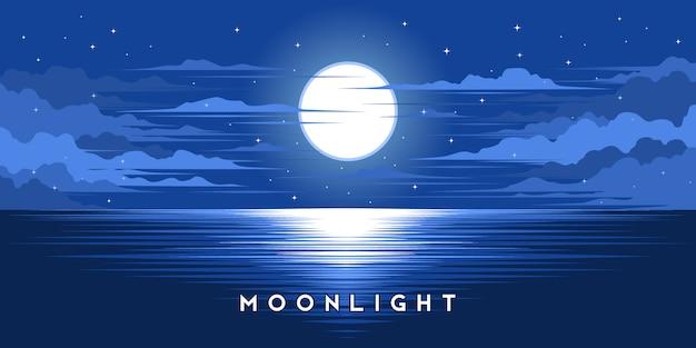 Illustrazione di illustrazione al chiaro di luna