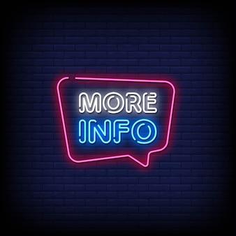 Altre informazioni testo in stile insegne al neon