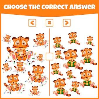 Più minore o uguale confronta il numero gioco di conteggio gioco matematico educativo