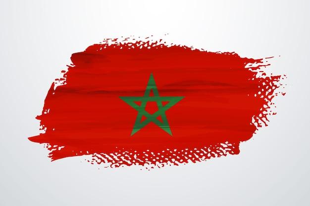 Bandiera del marocco pennello vernice