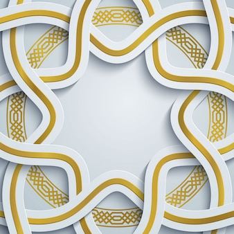 Motivo geometrico marocco - ornamento arabo cerchio