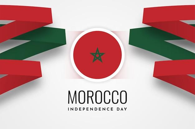 Disegno del modello giorno dell'indipendenza del marocco