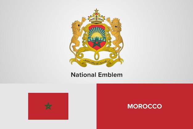 Modello di bandiera nazionale dell'emblema del marocco