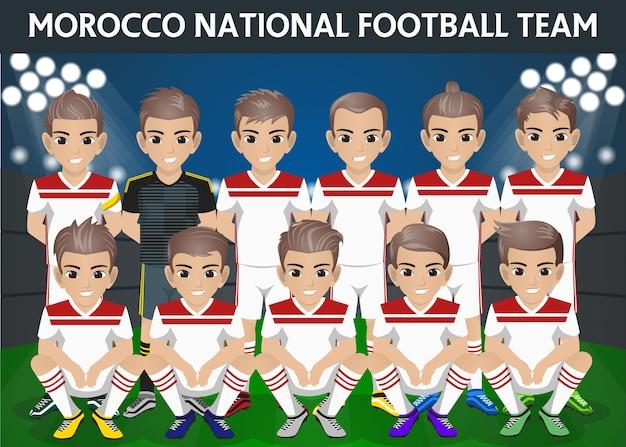 Squadra nazionale di calcio del marocco per il torneo internazionale