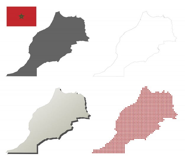 Cartina Muta Marocco.Marocco Mappa Paese Icona Gratis