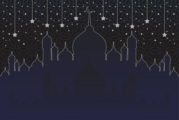 Sfondo religioso islamico della moschea