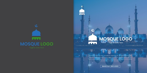 Modello logo moschea