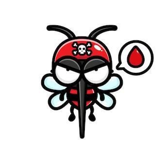 Zanzare in cerca di sangue illustrazione