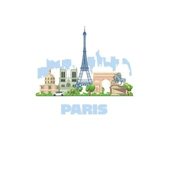 La città più bella d'europa, parigi. i più visitati dai turisti in tutto il mondo.