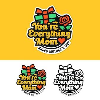 Distintivo della festa della mamma