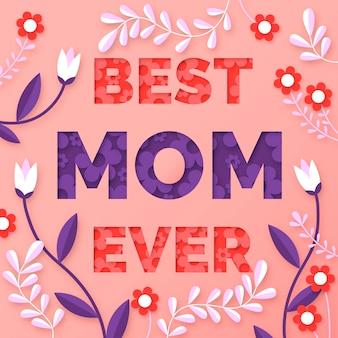 Illustrazione di festa della mamma in stile carta