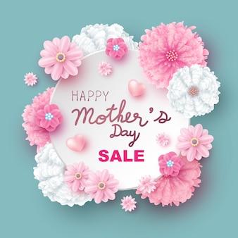 La progettazione di vendita di festa della mamma dei fiori vector l'illustrazione
