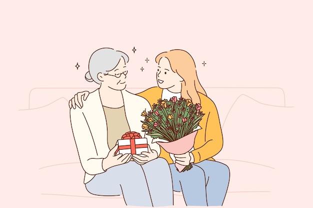 Festa della mamma, donne nel concetto di famiglia.