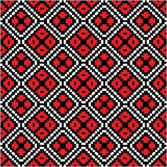 Motivo batik pattern di sfondo con stile mozaic
