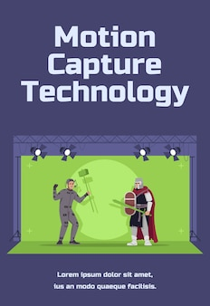 Modello di poster di tecnologia motion capture Vettore Premium