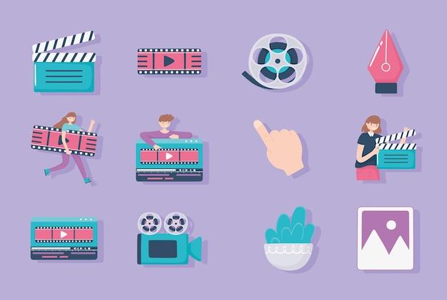 Set di icone di design del movimento