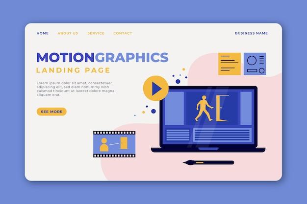 Pagina di destinazione motiongraphics