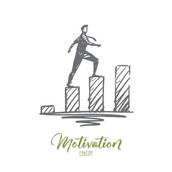 Illustrazione di motivazione disegnata a mano