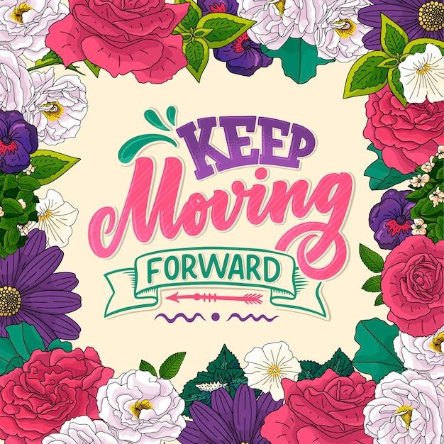Poster motivazionale di calligrafia. citazione ispiratrice.