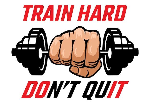 Illustrazione motivazionale di fitness e palestra
