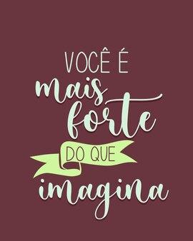 Una fase motivazionale in portoghese traduzione sei più forte di quanto immagini