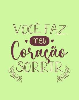 Una fase motivazionale in portoghese traduzione mi fai sorridere il cuore