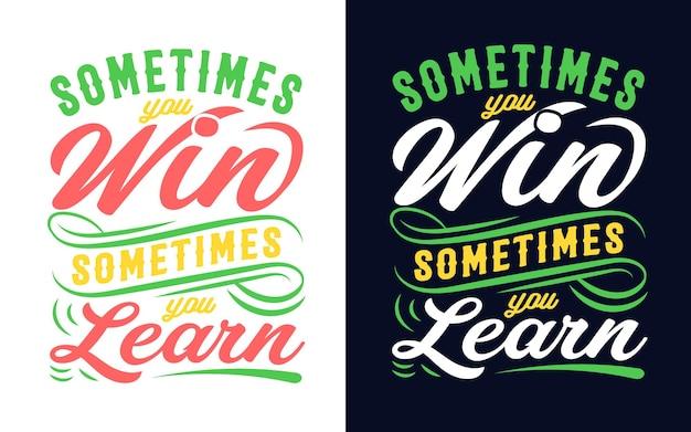 Design tipografico con citazione motivazionale