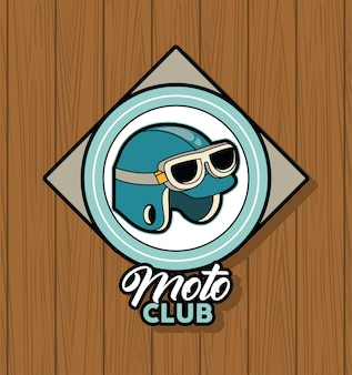 Patch moto club in stile retrò