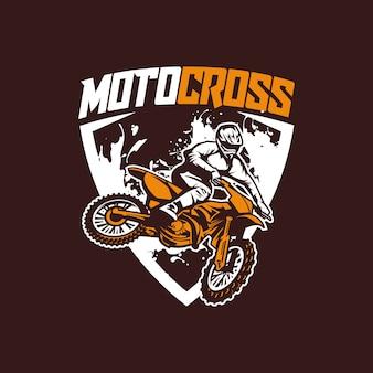Moto cross vettore