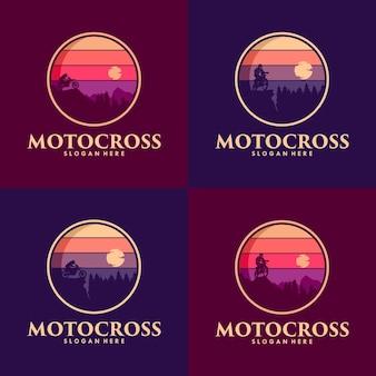 Disegno del logo di motocross adventure