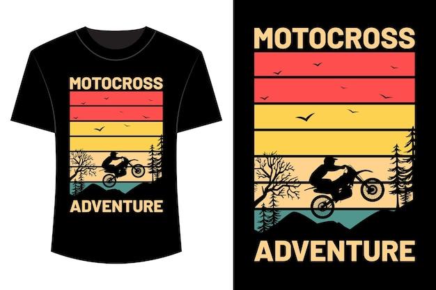 Design della maglietta dell'avventura di motocross