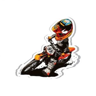 Cartone animato di motocross