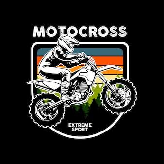 Modello di sport estremo di motocross