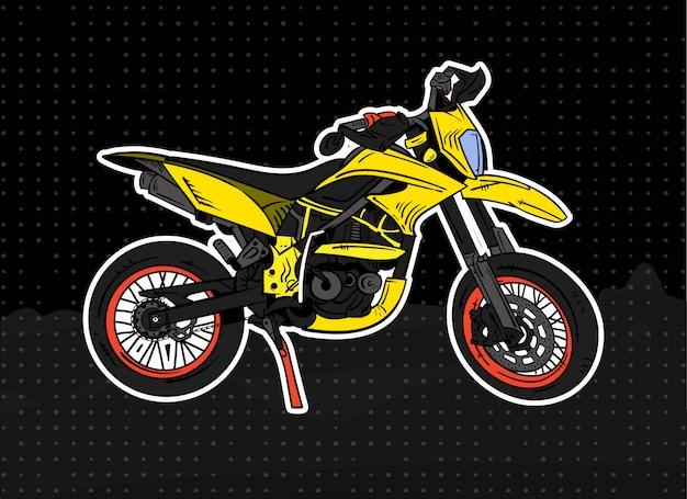 Illustrazione di motocross