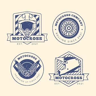 Collezione di logo di motocross