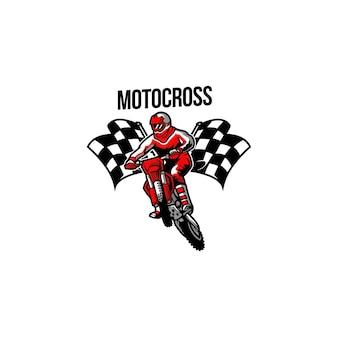 Disegno del logo del motocross