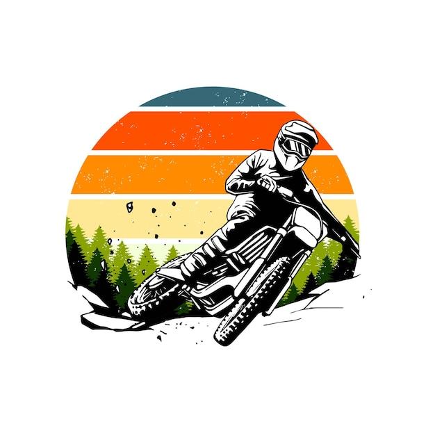 Design retrò di motocross