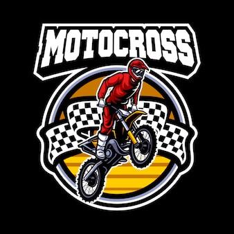 Logo vettoriale di motocross, stile libero di motocross