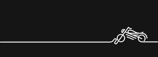 Moto icona linea vettoriale art design.